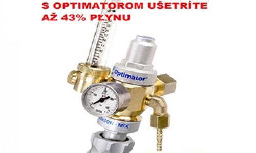 Regulačný ventil - optimátor ochranného plynu